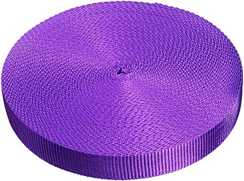 Direct Manufacturing Gurtband, 25 mm x 50 m, Polypropylen, für Heimwerker, Gurte, Geschirre, Zurrgurte und mehr, 440 kg Bruchlast, hergestellt in Großbritannien, Violett