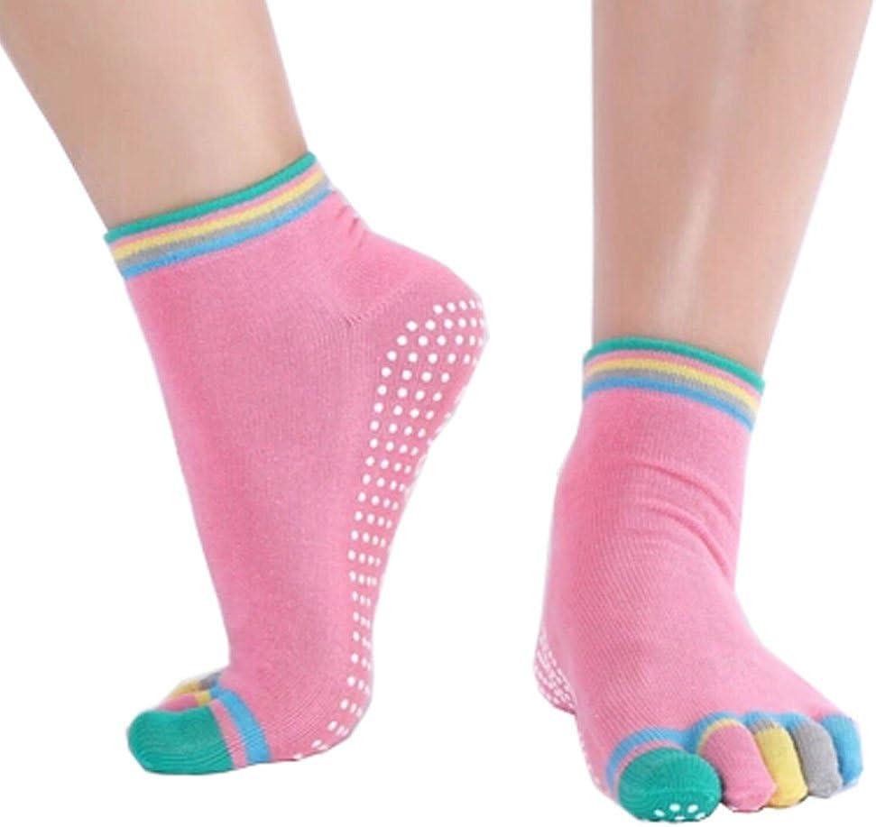 Phoenix Wonder Women's 5 ☆ popular Non Slip Colorful Yoga Full Socks shipfree Toe Cot