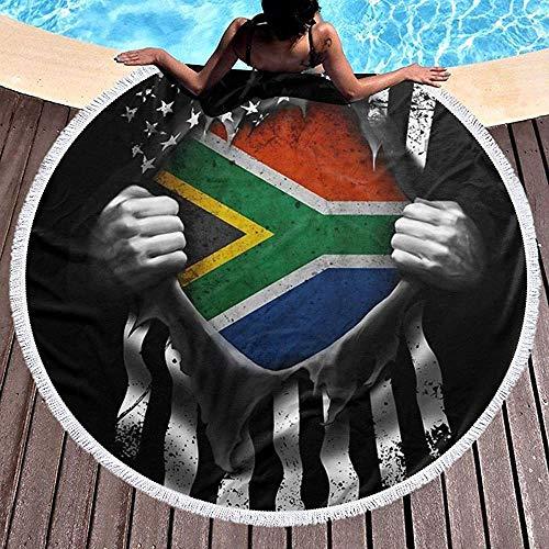Duanrest Beach Handdoek Pull Apart Shirts Zuid-Afrikaanse Amerikaanse Vlag Ultra Zachte Super Water Absorbens Strand Handdoeken Gooi voor Volwassenen