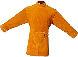 B Blesiya Delantal Capa Larga Soldadura Soldador Naranja Equipo de Industrias Tester