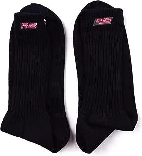 RJS Racing Racing Socks SFI 3.3 Approved Black Underwear Socks Nomex Large