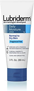 Lubriderm Daily Moisture Lotion Fragrance-Free 3 Ounce Tube (88ml) (2 Pack)