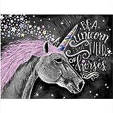 Pintura por números, Kits de Pintar acrílica Unicornio Lindo Animal por número Kits...