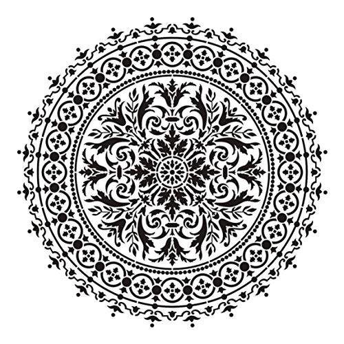 arret Middleton voorkeursgrootte DIY Craft Layering Mandala sjabloon voor muurschildering Scrapbooking stempelen album decoratieve reliëf papier kaart 2