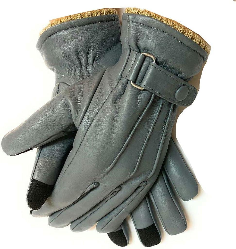 Women's Premium Quality Lambskin Leather Winter Warm Driving Trekking Biking Cycling Gloves