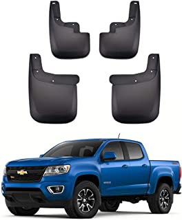 Tecoom Tecoom Mud Flaps Splash Guards for Chevy Colorado GMC Canyon Without Flares 2015-2019 Front and Rear Black Set of 4