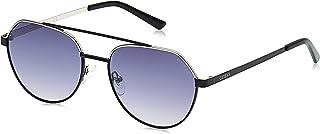 Guess Unisex Sunglasses GU304801B53 - Shiny Black/Gradient Smoke Metal