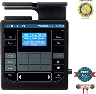 TC-Helicon VoiceLive Touch 2 includes Free Wireless Earbuds - Stereo Bluetooth In-ear and 1 Year Everything Music Extended Warranty