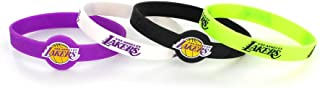 NBA Los Angeles Lakers Silicone Bracelets, 4-Pack