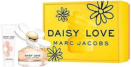 Marc Jacobs Daisy Love for Women 2 Piece Travel Set (3.4 Oz Eau De Toilette Spray + 2.5 Oz Body Lotion)