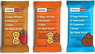 RXBAR Kids Real Food Protein Bar, Variety Pack, 1.16oz Bars, 15 Count