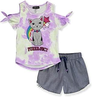 AUIE SAOSA Little Girls Lovely Tank top Shorts Set