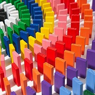 Mumoo Bear 120pcs Wooden Dominos Blocks Set, Kids Game Educational Play Toy, Domino Racing Toy Game