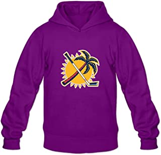Florida Panthers Funny Casual Purple Long Sleeve Sweatshirts For Guys Adult Size L