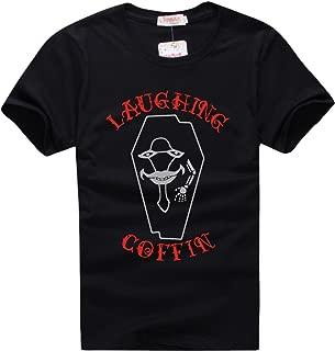 Sword Art Online Laughing Coffin Black T-shirt Cosplay Happy Yohe (XXL)