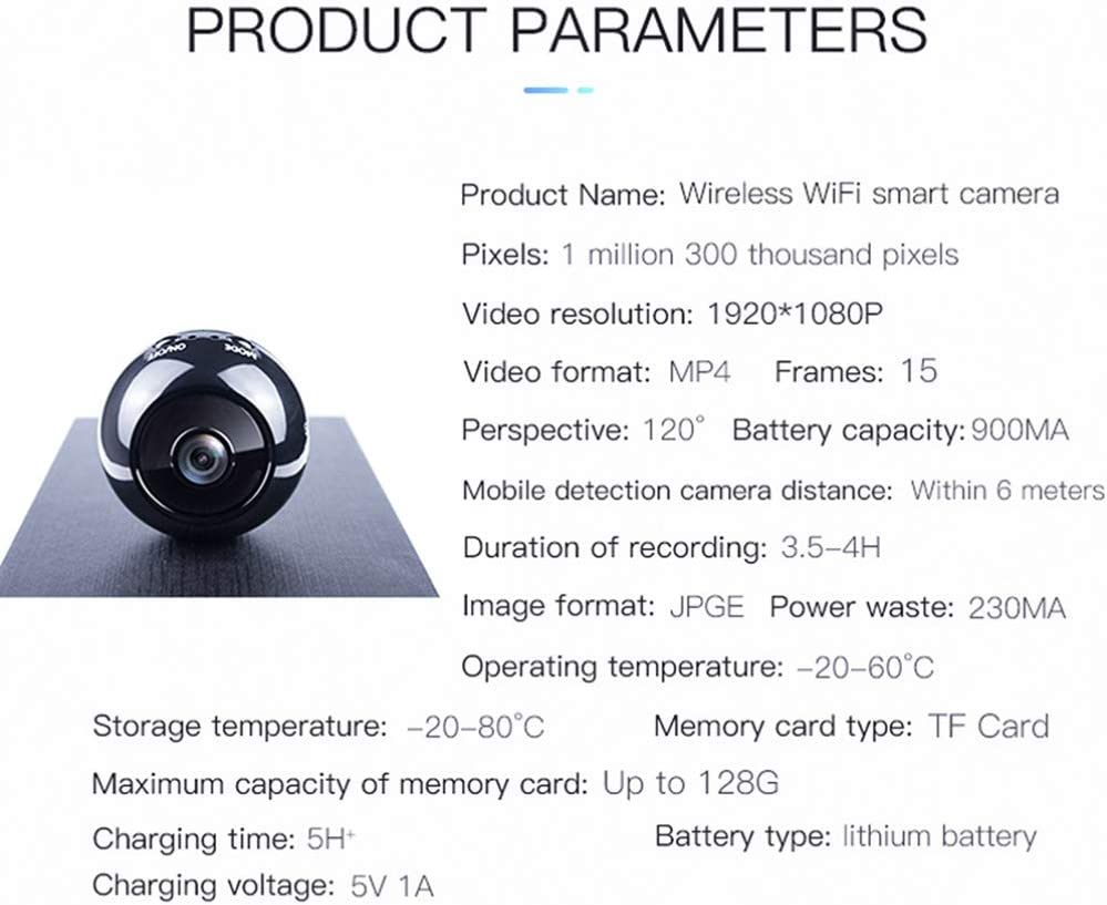 EXCEART 1080p Night Vision Wireless WiFi Magnetic Sports Camera