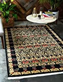 Unique Loom Edinburgh Collection Oriental Traditional French Country Black Area Rug (9' 0 x 12' 0)
