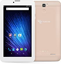 YUNTAB 7 inch 3G Unlocked Android Smartphone Tablet, Support Dual SIM Cards, Quad Core Processor, IPS Touch Screen, with WiFi, GPS and Dual Camera, Alloy Metal Back(Gold)