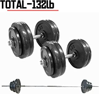 IRUI Adjustable Dumbbells Set, Free Weights Dumbbells for Gym Work Out Home Training Suitable for Professional People 68Lbs /31KG (2pcs)