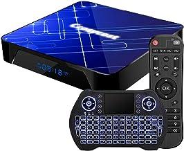 Android TV Box 10.0 4GB RAM 32GB ROM Amlogic S905X3 Smart TV Box Set Top Box with Backlit Wireless Keyboard USB 3.0 Ultra ...