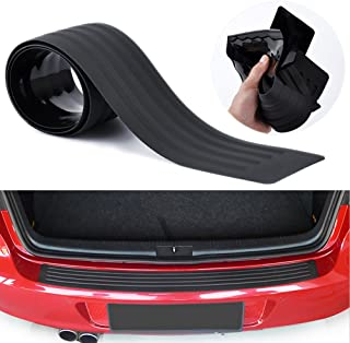 Advgears Rear Bumper Protector Guard Universal Black Rubber Scratch-Resistant Trunk Door..