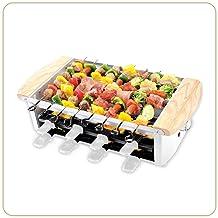 LITTLE BALANCE 8263 Raclette Alpes 1200-8 - Raclette / Grill 8 personnes - Raclette Grill Brochettes électrique - Revêteme...