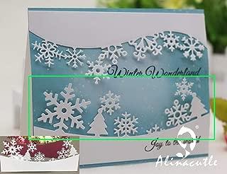 Best Quality - Cutting Dies - Cutting Dies Cut alinacraft Winter Snowflake Border line Edge Christmas Scrapbook Paper Craft Album Card Punch Art Cutter - by SeedWorld - 1 PCs