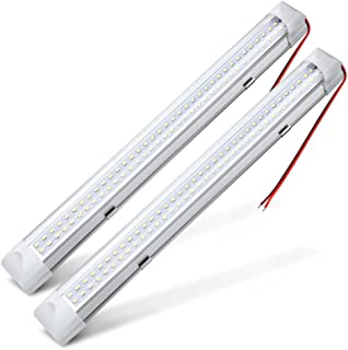 "MICTUNING 13.5"" Car Interior Led Light Bar 3.5W 72 LED Lamp with On/Off Switch for Van Lorry Truck Camper Boat (2 Pcs)"