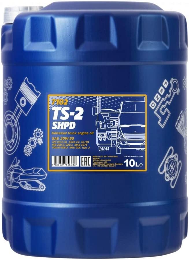 Mannol 2 Shpd 20 W Api Ch 4 Cg Cf Sl Synthetic Motor Oil 5 Litres Auto