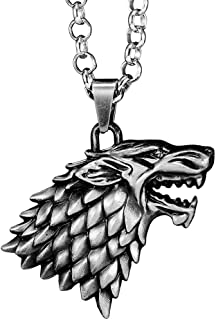 game of thrones dire wolf necklace