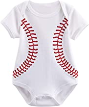 COSLAND Baby Boys' Sports Short Sleeve Bodysuit