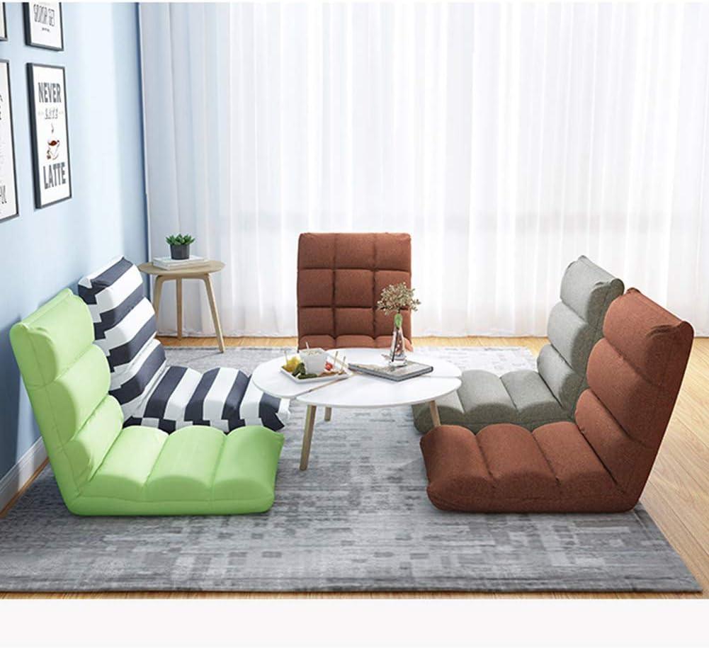 JDSFKX Meditationstuhl Faules Sofa Zusammenklappen Bodenstuhl Multifunktional Einzelner Stuhl Fensterstuhl, Verfügbar in 5 Farben, Für zu Hause oder im Büro A-green