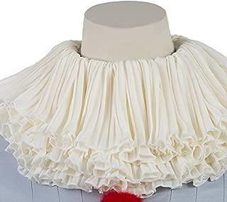PW Pleated Chiffon Neck Scarf Halloween Cosplay Ruffle Collar Costume Accessory