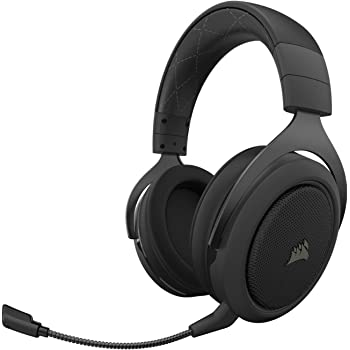 Corsair HS70 Pro Wireless Gaming Headset - 7.1 Surround Sound Headphones for PC, PS5, and PS4 - Discord Certified - 50mm Drivers – Carbon