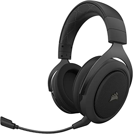 Corsair HS70 Pro Wireless Gaming Headset - 7.1 Surround Sound Headphones for PC - Discord Certified - 50mm Drivers - Carbon