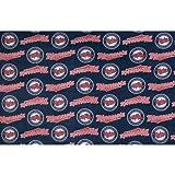 Fabric Traditions MLB Fleece Minnesota Twins, Yard, Blue/Red