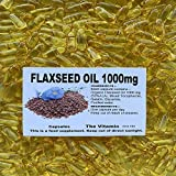 The Vitamin FLAXSEED OIL 1000mg 90 capsules FREE POSTAGE (L)