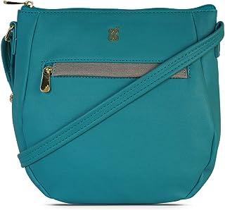 Baggit Autumn/Winter 2020 Faux Leather Women's Saddle Handbag (Green) (Tabby)