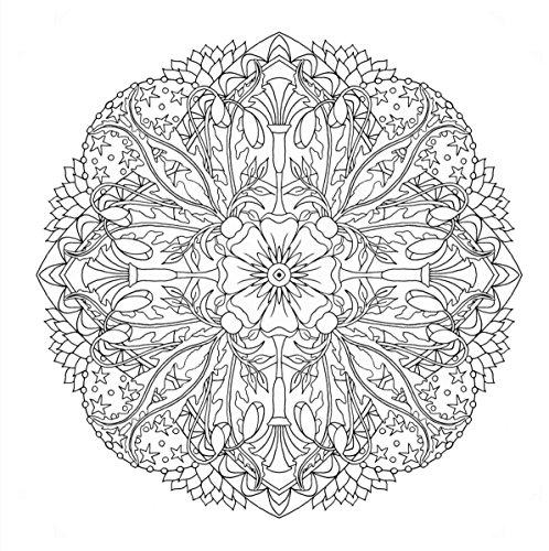 『flower mandalas 心を整える、花々のマンダラぬりえ』の13枚目の画像
