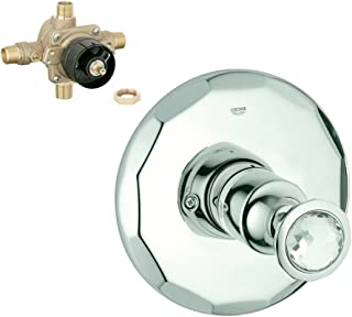 Grohe K19268-35015R-VP0-2 Kensington Shower/Tub Valve Kit, Chrome/Swarowski Crystal,,, Chrome