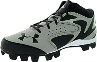 Under Armour Leadoff MID RM Grey/Black Mens Baseball Cleats