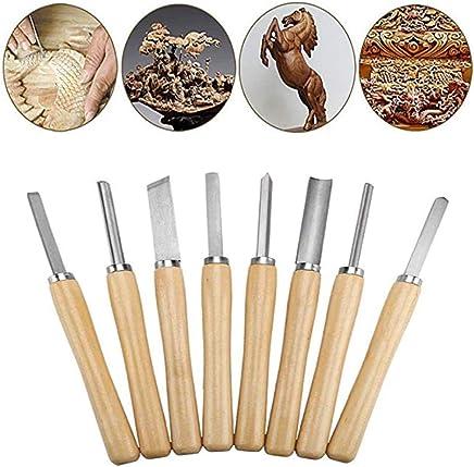 12 Pieza Talla de madera conjunto de cincel herramienta de mano carpintería Profesional Acero gubias