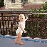 3 Metros Red de Seguridad para Balcones,Red de Seguridad para Niños,Red de Protección del Balcón para Bebé Niños Mascotas,Red de Seguridad para Escaleras de Balcón