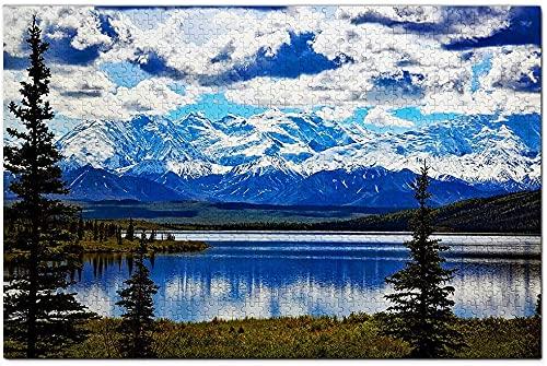 500 Teile-Amerika Denali Nationalpark Alaska Puzzle Spiel Artwork Reise Souvenir Holz