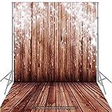 Andoer 1,5 * 2 m Hintergrund Fotografie Hintergrund klassische Mode Holz Holzboden Fotohintergrund für Studio-Profi-Fotografie, Baby,...