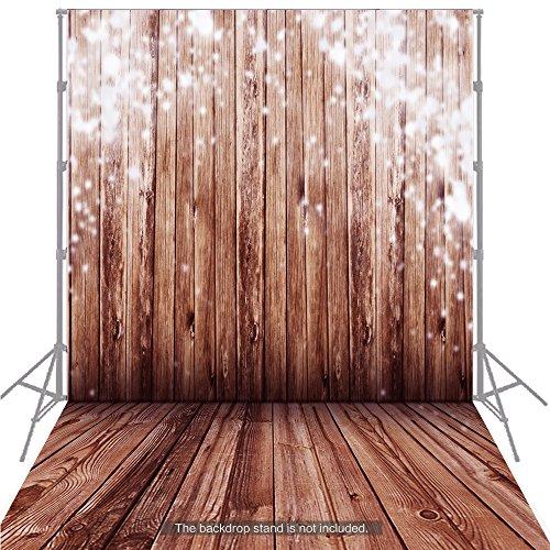 Gran telón de fondo Andoer 1,5x 2m, suelo de madera clásico de moda para el estudio del fotógrafo profesional. , 9
