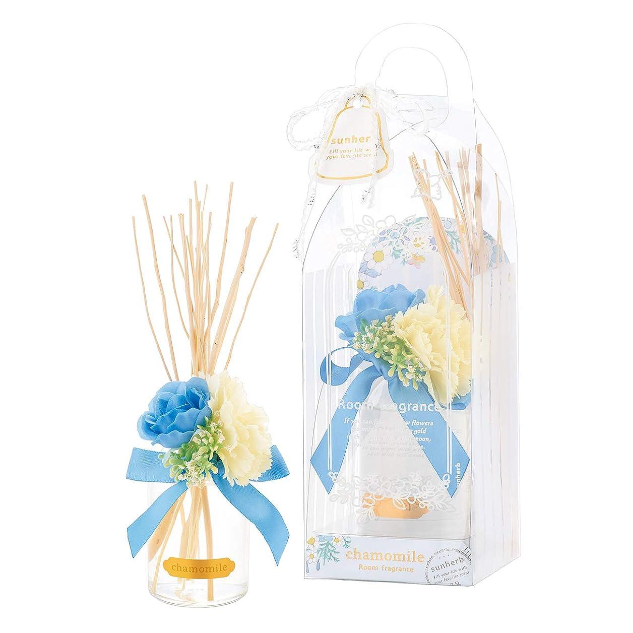 放つスナップ該当するサンハーブ ルームフレグランスフラワー カモマイル 100ml(芳香剤 花かざり付 やさしく穏やかな甘い香り)