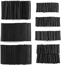 熱収縮チューブ 127ピースセット 絶縁チューブ 防水 高難燃性 収縮 チューブ ブラック 7サイズ Φ2mm~13mm