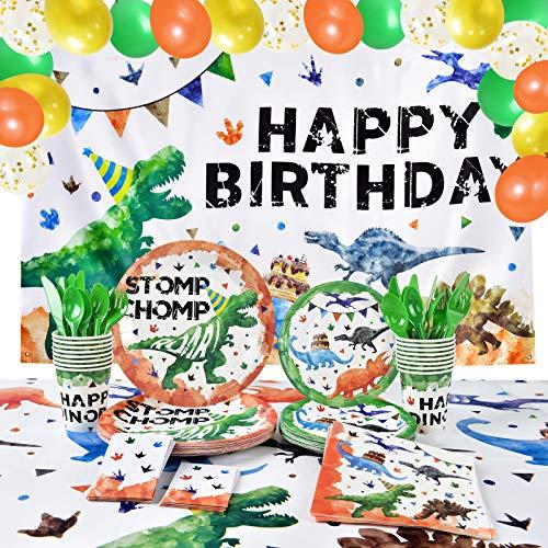 Decoración de Fiesta de Cumpleaños Dinosaurios - Suministros para Fiestas de Dinosaurios...