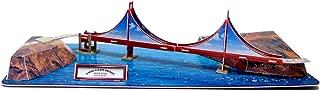 Creative 3D Puzzle Paper Model Golden Gate Bridge DIY Fun & Educational Toys World Great Architecture Series, 19 Pcs